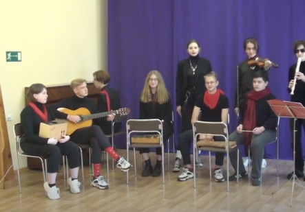 Musikgruppe der Waldorf-Schule Jaroslawl